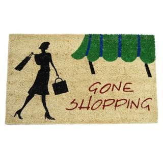Rubber-Cal Gone Shopping Novelty Door Mat (18 x 30)