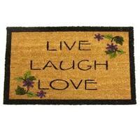 Rubber-Cal Live, Laugh, Love Novelty Door Mat (18 x 30)