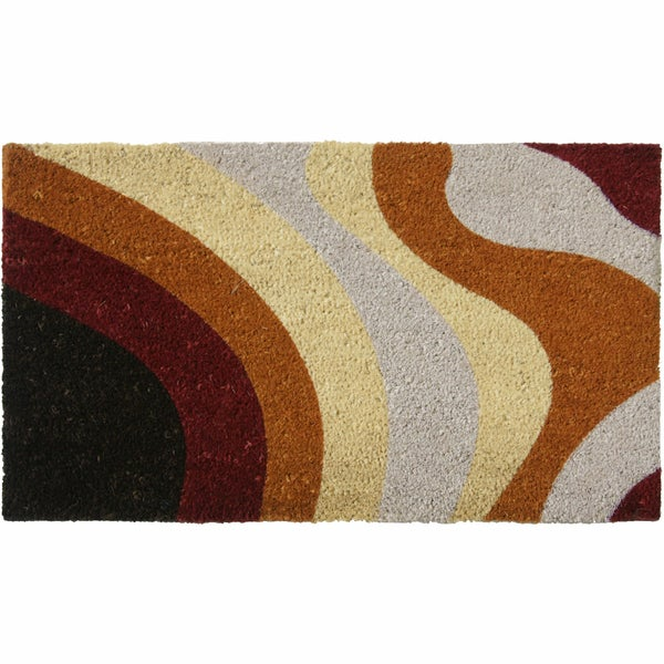 Rubber Cal Brown Streaks Modern Door Mat 18 X 30 Free