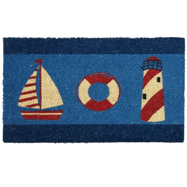 Shop Rubber Cal It S Summer Beach Door Mat 18 X 30