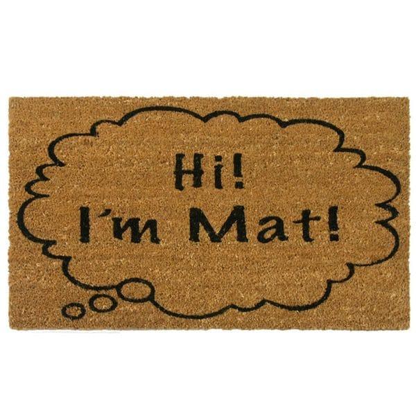 Shop Rubber Cal Hi I M Mat Coir Outdoor Door Mat Free