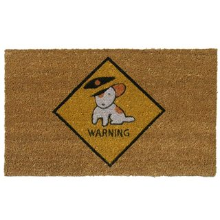 Rubber-Cal Police 'Beware of Dog' Coir Outdoor Door Mat