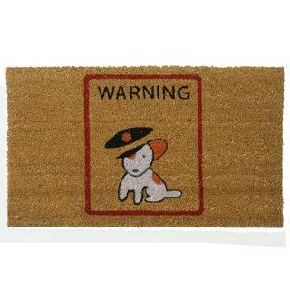 Rubber-Cal 'Warning, Vicious Puppy Inside' Coir Outdoor Door Mat