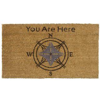 Rubber-Cal 'You Are Here' Coir Outdoor Door Mat