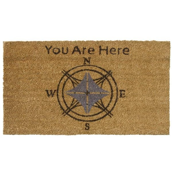 Rubber-Cal 'You Are Here' Coir Outdoor Door Mat