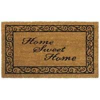 Rubber-Cal 'Home Sweet Home' Coir Outdoor Door Mat