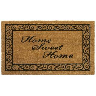 Rubber-Cal 'Home Sweet Home' Coir Outdoor Door Mat