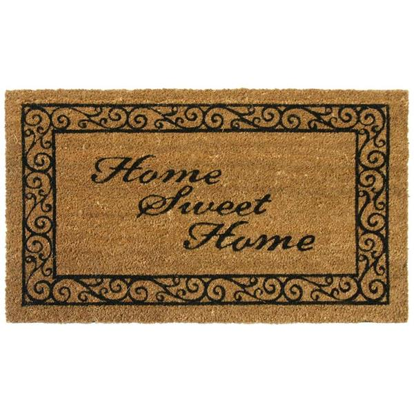 Rubber Cal U0026#x27;Home Sweet Homeu0026#x27; Coir Outdoor Door