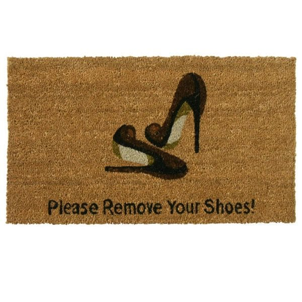 Rubber Cal Please Remove Your Shoes Coir Outdoor Door