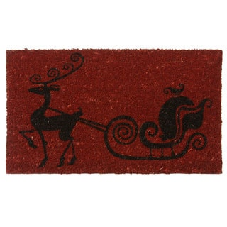 Rubber-Cal 'Rudolph the Red Nose Reindeer' Coir Holiday Door Mat