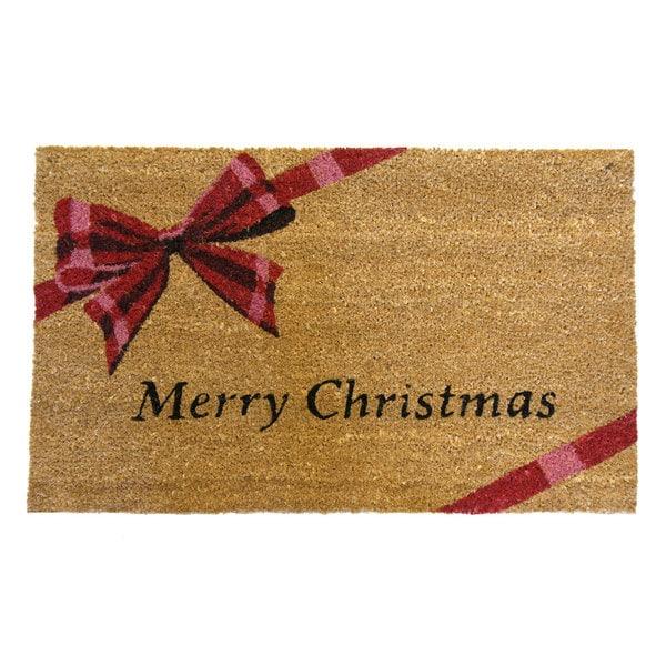 Shop Rubber Cal Merry Christmas Coir Outdoor Door Mat