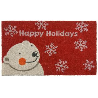 Rubber-Cal 'Happy Holidays' Coir Outdoor Door Mat