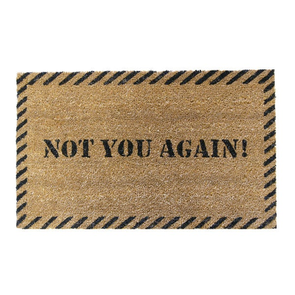Rubber Cal U0026#x27;Not You Againu0026#x27; Coir Outdoor Door