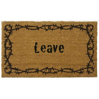 Rubber-Cal 'Leave' Coir Outdoor Door Mat