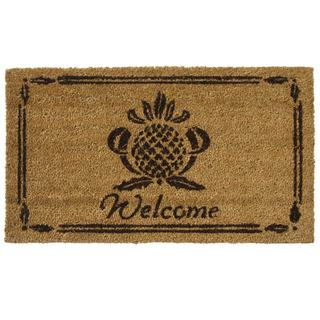 Rubber-Cal 'Pineapple' Coir Outdoor Door Mat