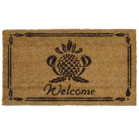 Rubber-Cal 'Pineapple' Coir Outdoor Door Mat