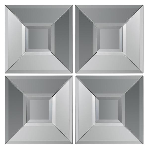 Beveled 4-piece Mirror Wall Decor Set - Free Shipping ...