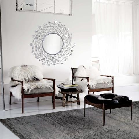 Ren Wil 'Como' Spinning Circle Frame Mirror - Grey