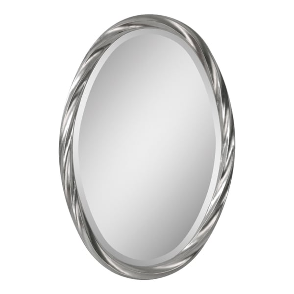 302f236afc53 Shop Ren Wil  Wiltshire  Oval Twisted Frame Mirror - Silver - Free Shipping  Today - Overstock - 7984285