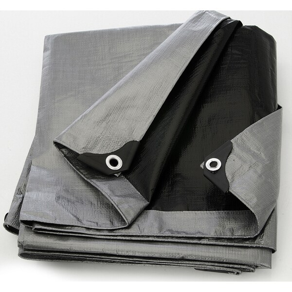 Heavy Duty Silver and Black Tarpaulin Canopy Cover & Heavy Duty Silver and Black Tarpaulin Canopy Cover - Free Shipping ...