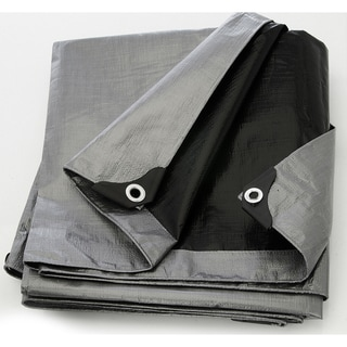 Heavy Duty Silver and Black Tarpaulin Canopy Cover