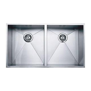 Ukinox DS400.50.50 50/50 Double Basin Stainless Steel Undermount Kitchen Sink
