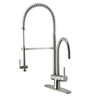 VIGO Stainless Steel Pull-down Spray Kitchen Faucet with Deck Plate