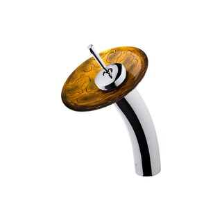 Vigo Copper Shapes Glass Disc Single-lever Waterfall Chrome Bathroom Faucet