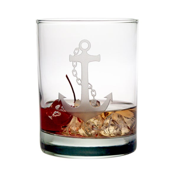 Anchor Collection 14-ounce Double Old Fashioned Glasses (Set of 4)