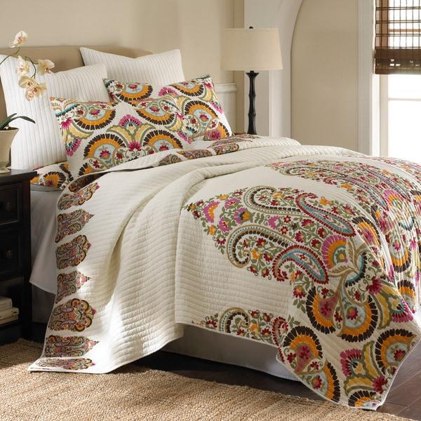 Shop Windsong 3 Piece Cotton Quilt Set Free Shipping