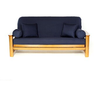 lifestyle covers navy blue full size futon cover lifestyle covers smoke grey full size futon cover   free shipping      rh   overstock