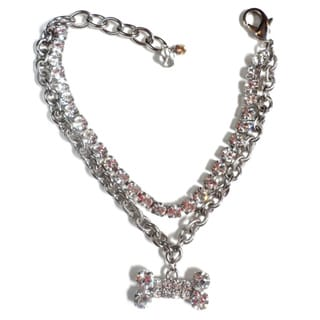 Buddy G's Austrian Crystal Double Strand Chain Collar