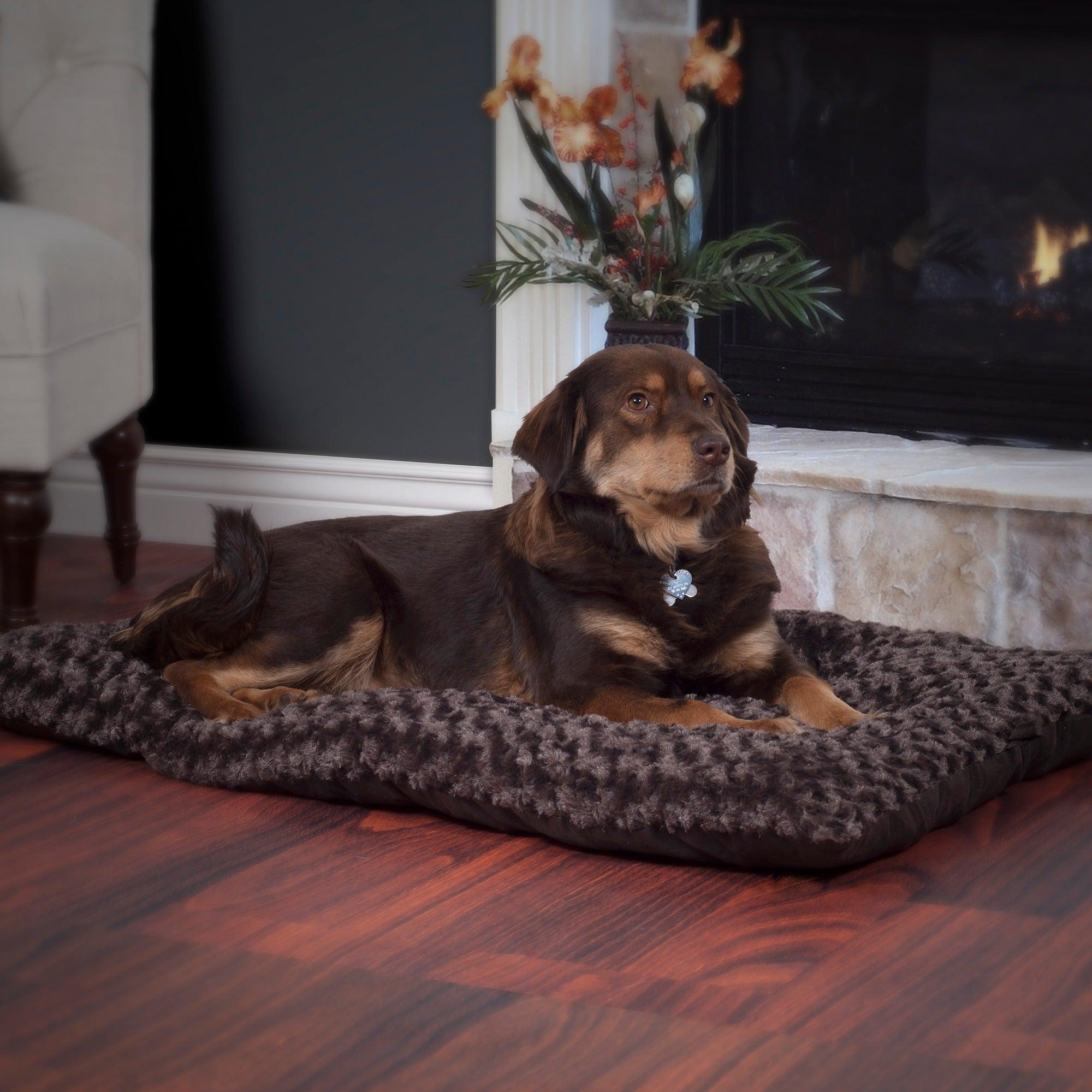 Trademark Paw Lavish Cushion Chocolate (Brown) Pillow Fur...