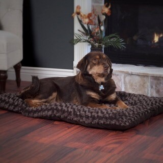 Paw Lavish Cushion Chocolate Pillow Furry Pet Bed