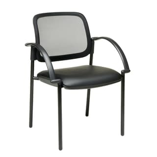 Office Star Products Work Smart Black Screen Back Visitor's Chair