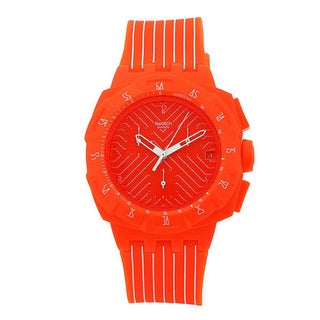 Swatch Men's 'Flash Run' Orange/ White Watch - Orange
