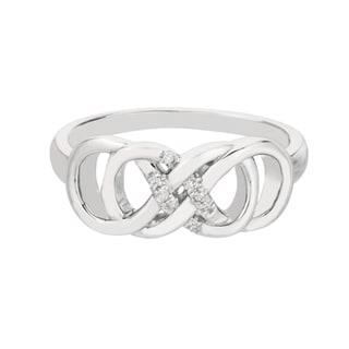 infinity diamond rings gold silver more overstockcom shopping - Infinity Wedding Ring