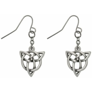 Carolina Glamour Collection Pewter Trinity Knot Earrings