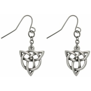 Pewter Trinity Knot Earrings
