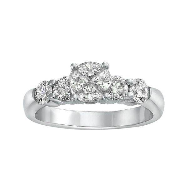 Beverly Hills Charm 14k White Gold 1 1/3ct TDW Diamond Engagement Ring (H-I, SI1-SI2)