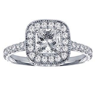 14k/ 18k White Gold 2ct TDW Diamond Encrusted Engagement Ring (G-H, SI1-SI2)