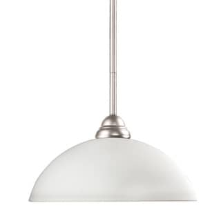 Riviera Brushed Nickel and White Swirl Glass 1-Light Mini Pendant
