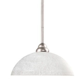 Riviera Brushed Nickel 1-light Mini Pendant