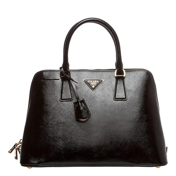 5be89eabf9ef ... low cost prada x27vernicex27 black saffiano leather top handle bag  5fbdc 30b34