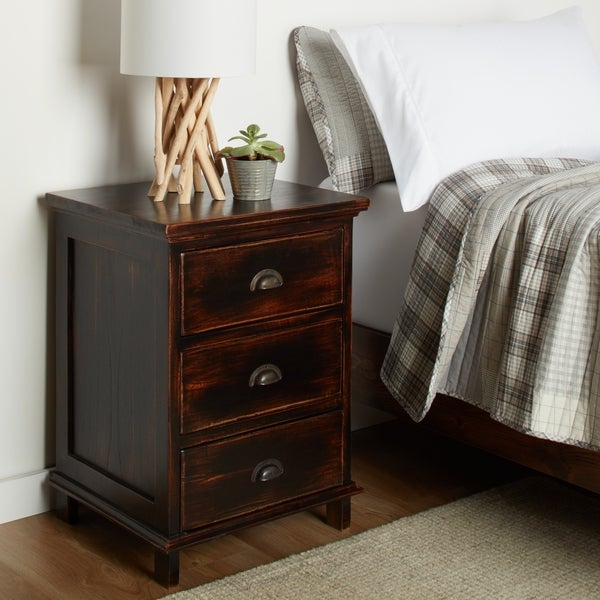 Handmade Ebb Tide Black Nightstand (Indonesia)