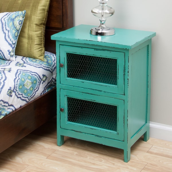 Kijang Turquoise Night Stand Indonesia Free Shipping