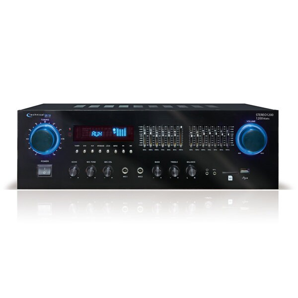 Technical Pro 1200W Receiver with USB & SD Inputs