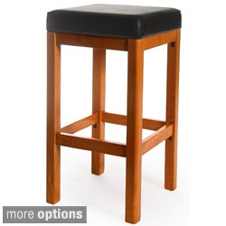 Lexington Solid Beech Wood and Leatherette Barstool