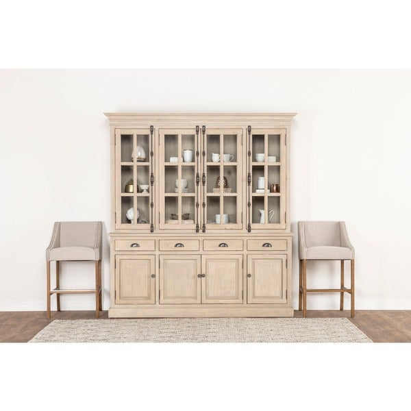 wilson reclaimed wood 82inch china cabinet by kosas home