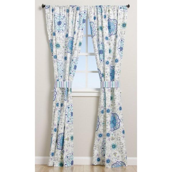 Greenland Home Fashions Esprit Blue 84-inch Curtain Panel Pair